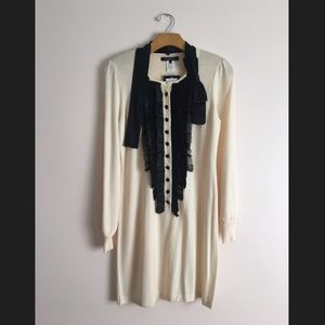 Nanette Lepore Cream Sweater Dress NWT